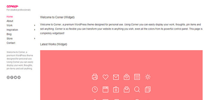 Corner WordPress Theme –  Blog / Magazine Theme