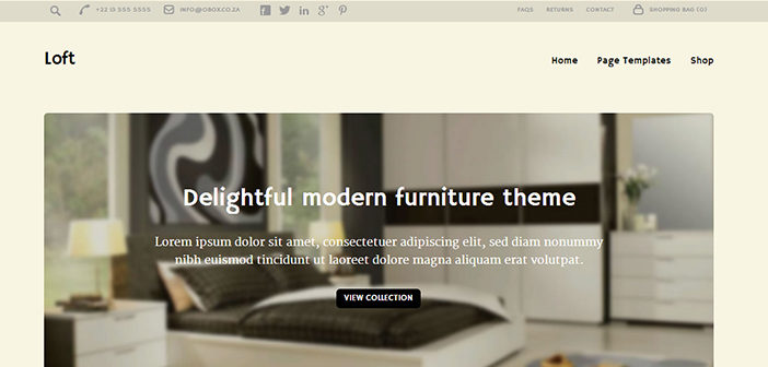 Loft WordPress Theme – eCommerce WordPress Theme