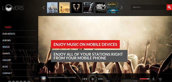 Lovers WordPress Theme – Music Theme