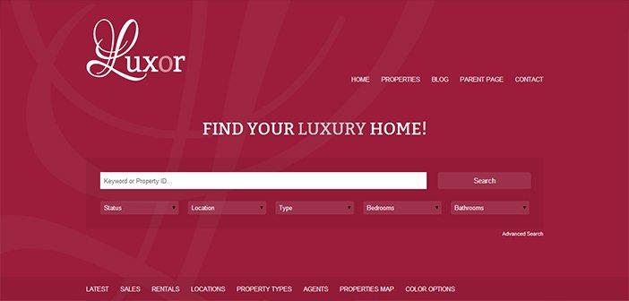 Luxor WordPress Theme – Real Estate WordPress Theme