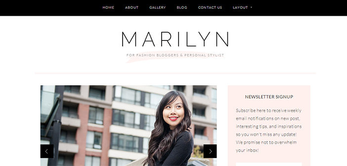 Marilyn WordPress Theme – Lifestyle Blog WordPress Theme