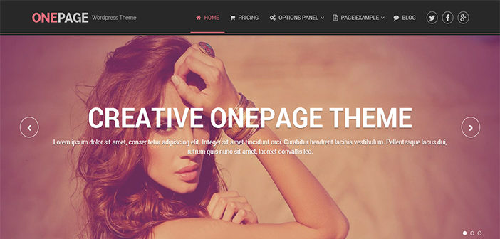 OnePage WordPress Theme – Portfolio WordPress Theme