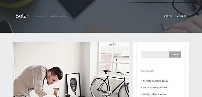 Solar WordPress Theme – Blog WordPress Theme