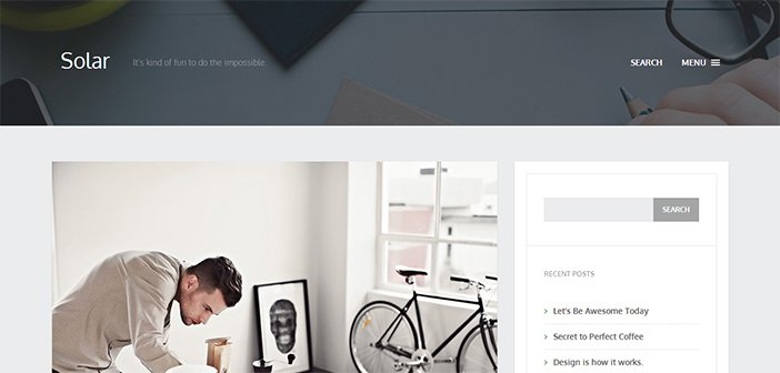 Solar WordPress Theme – Blog WordPress Theme