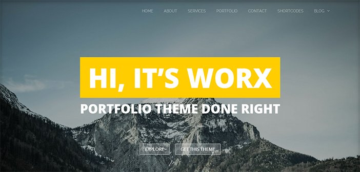 Worx WordPress Theme – Portfolio Theme