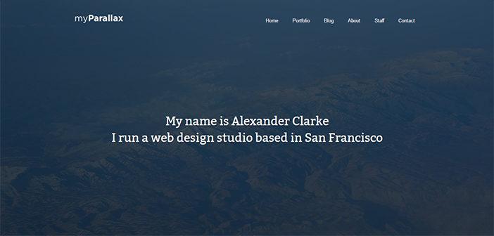 myParallax WordPress Theme – Portfolio WordPress Theme