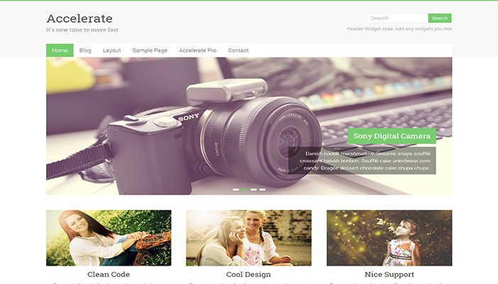 Accelerate WordPress Theme