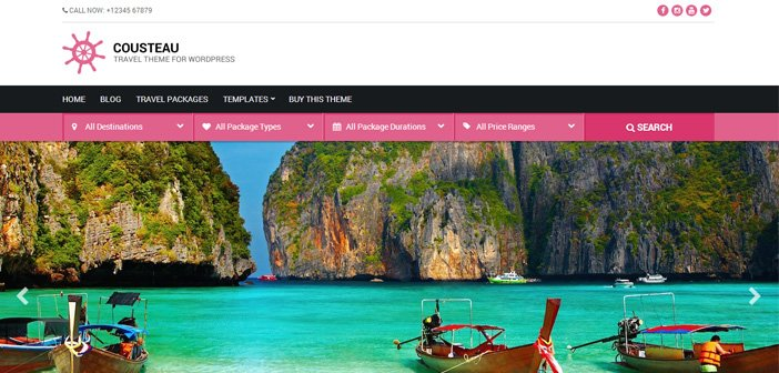 Cousteau WordPress Theme – Travel WordPress Theme