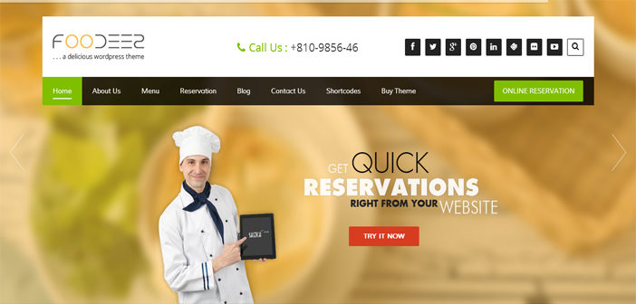 Foodeez WordPress Theme – Restaurant WordPress Theme