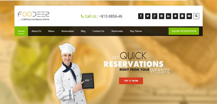 Foodeez WordPress Theme – Restaurant WordPress Theme