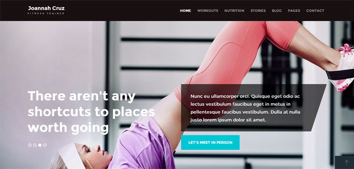 In Shape WordPress Theme – Fitness WordPress Theme