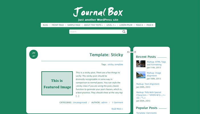 Journal Box WordPress Theme