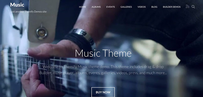 Music WordPress Theme – Themify Music WordPress Theme