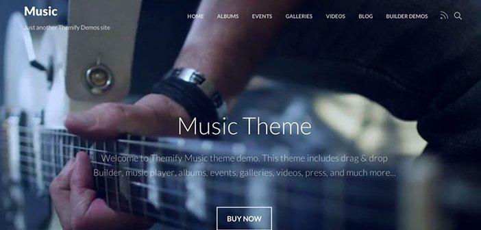 Music WordPress Theme – Themify Music WordPress Theme