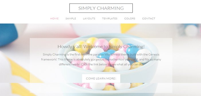 Simply Charming WordPress Theme – Blogging WordPress Theme