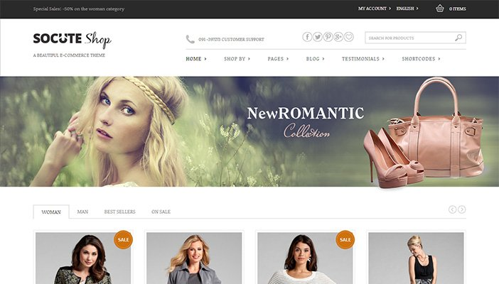 Socute WordPress Theme