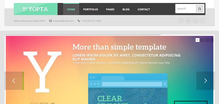 Yopta WordPress Theme – A Creative Multipurpose Theme