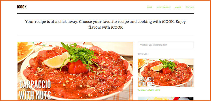 iCook WordPress Theme – Food/Recipe WordPress theme