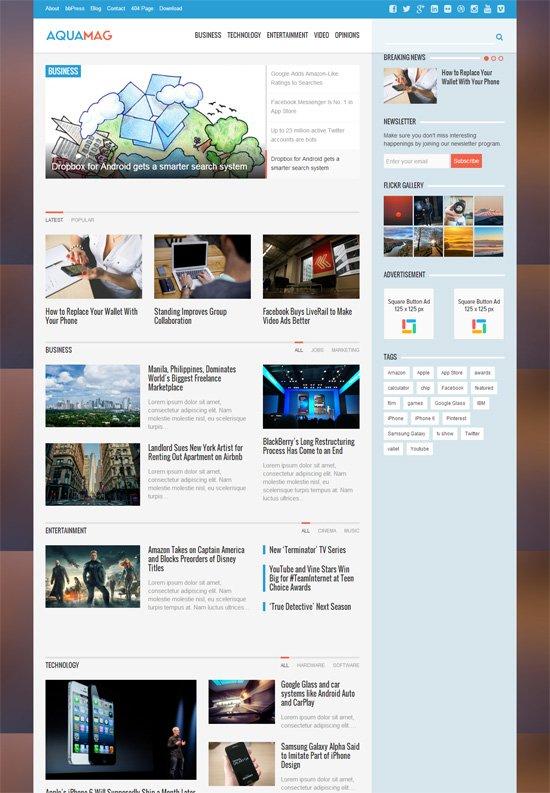 AquaMag-WordPress-Theme