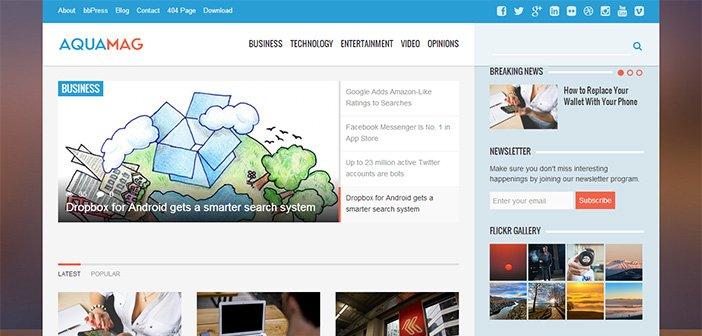 AquaMag WordPress Theme – Magazine WordPress Theme
