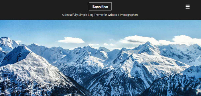 Exposition WordPress Theme – Blog WordPress Theme
