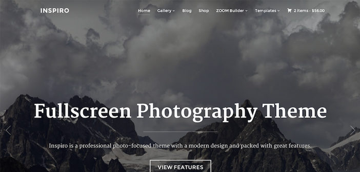Inspiro WordPress Theme – Fullscreen Photography Theme