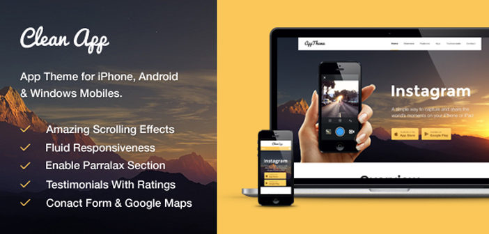 Cleanapp WordPress Theme – Mobile App WordPress Theme