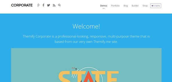 Corporate WordPress Theme – Professional Themify Theme