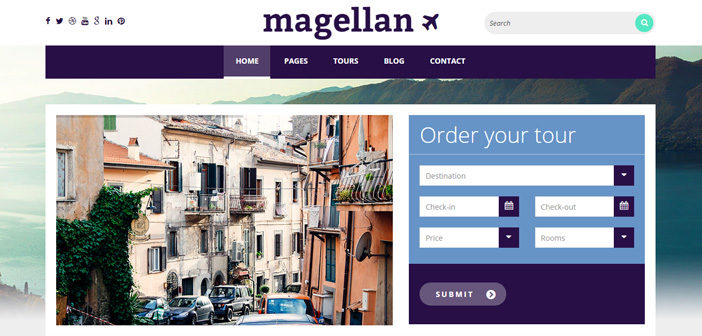 Magellan WordPress Theme – Travel WordPress Theme