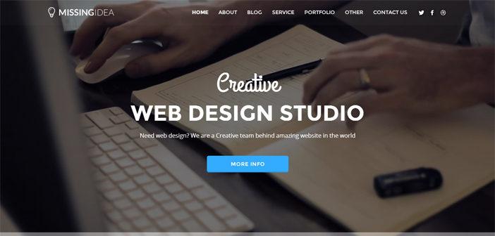 Missingidea WordPress Theme – Portfolio WordPress Theme