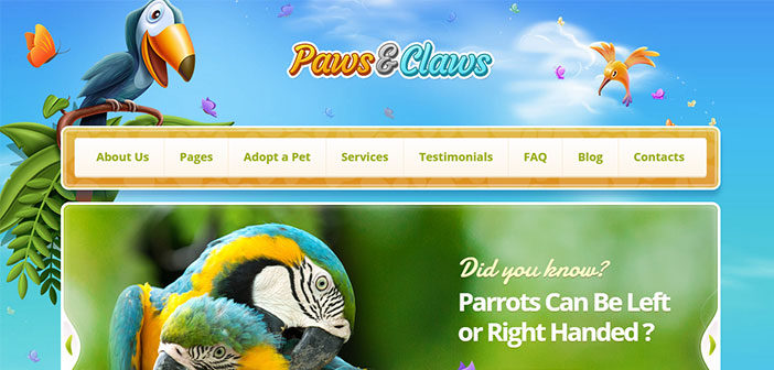 Paws and Claws WordPress Theme – Pet WordPress Theme