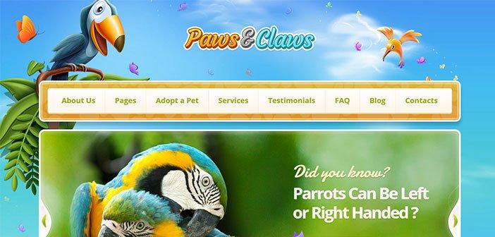 Paws and Claws WordPress Theme – Pet WordPress Theme