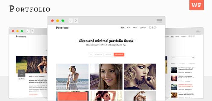 Portfolio – A Minimal Portfolio WordPress Theme