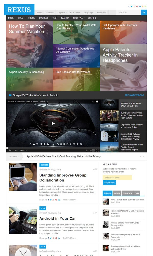 Rexus-WordPress-Theme