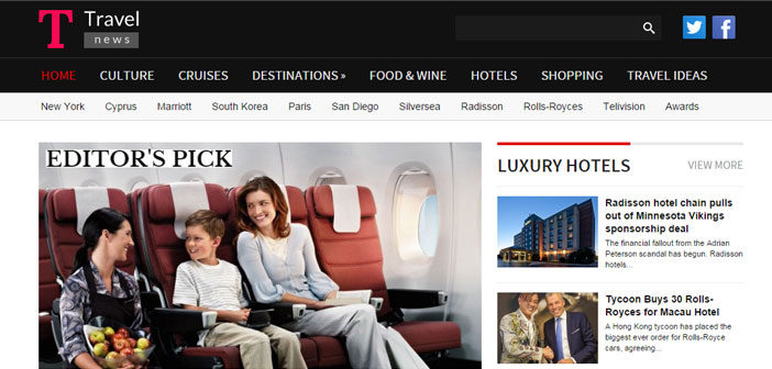 TravelNews – A Travel Magazine WordPress Theme