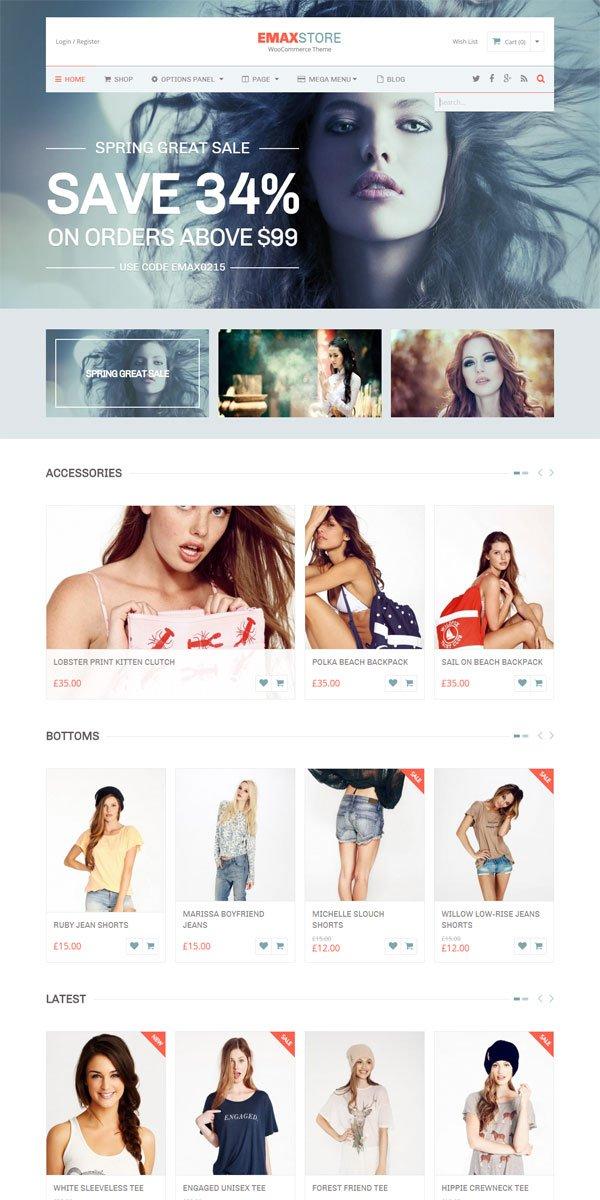 eMaxStore WordPress Theme
