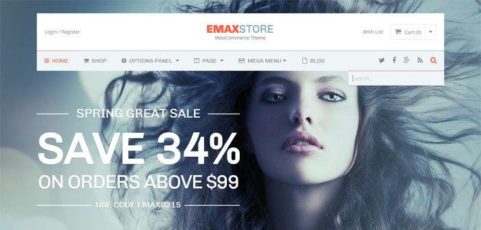 eMaxStore – A Beautiful eCommerce WordPress Theme