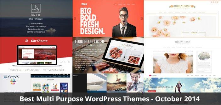 Best Multi Purpose WordPress Themes – October 2014