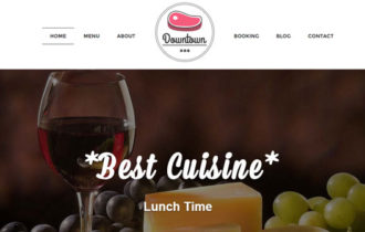 Downtown – A Modern Restaurant WordPress Theme