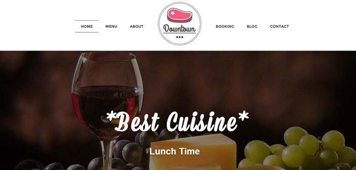 Downtown – A Modern Restaurant WordPress Theme