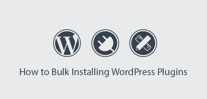How to Bulk Installing WordPress Plugins