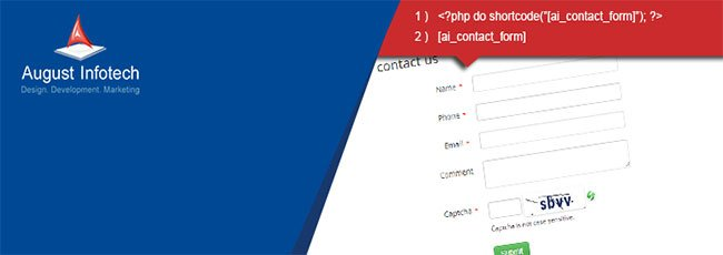 Multi-language Responsive Contact Form