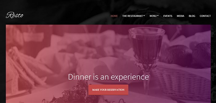 Resto – A Stunning Restaurant WordPress theme