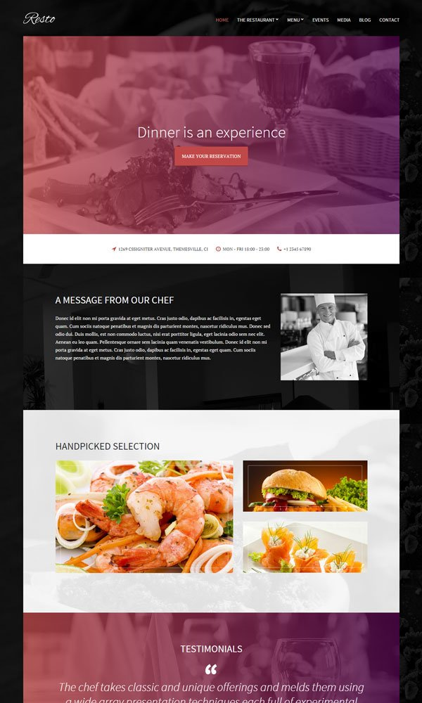Resto WordPress Theme