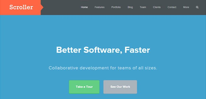 Scroller – A Clean & Flexible Business WordPress Theme