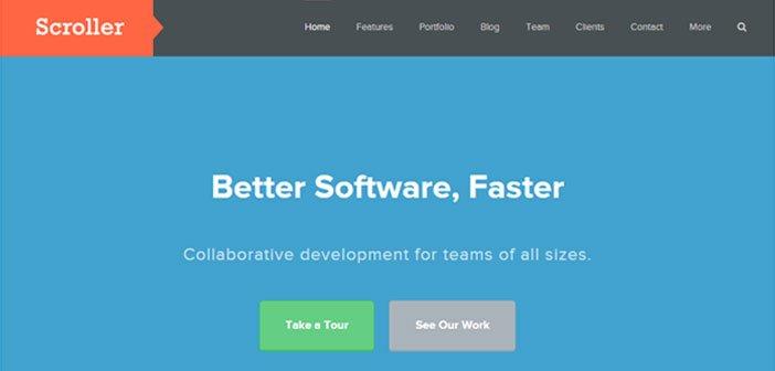 Scroller – A Clean & Flexible Business WordPress Theme