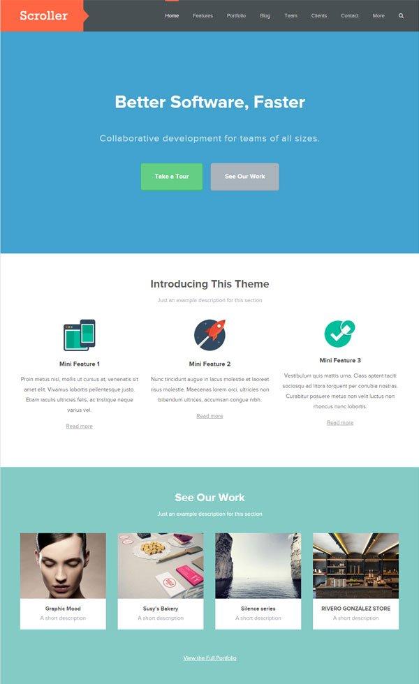 Scroller WordPress Theme