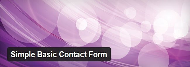 Simple Basic Contact Form