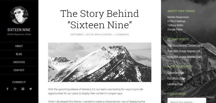 Sixteen Nine Pro – A Genesis Powered WordPres Theme