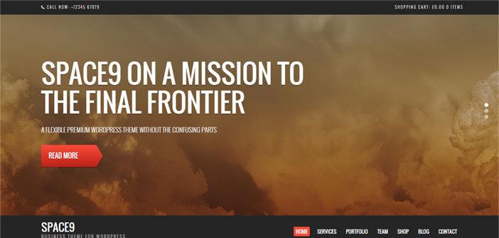 Space9 – A Next Generation Business WordPress Theme